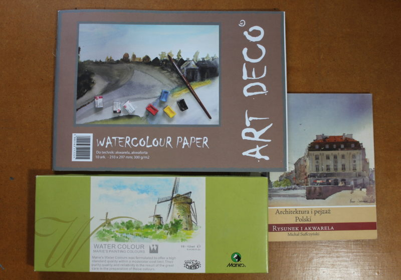 rodzaje papieru do malowania akwarelą