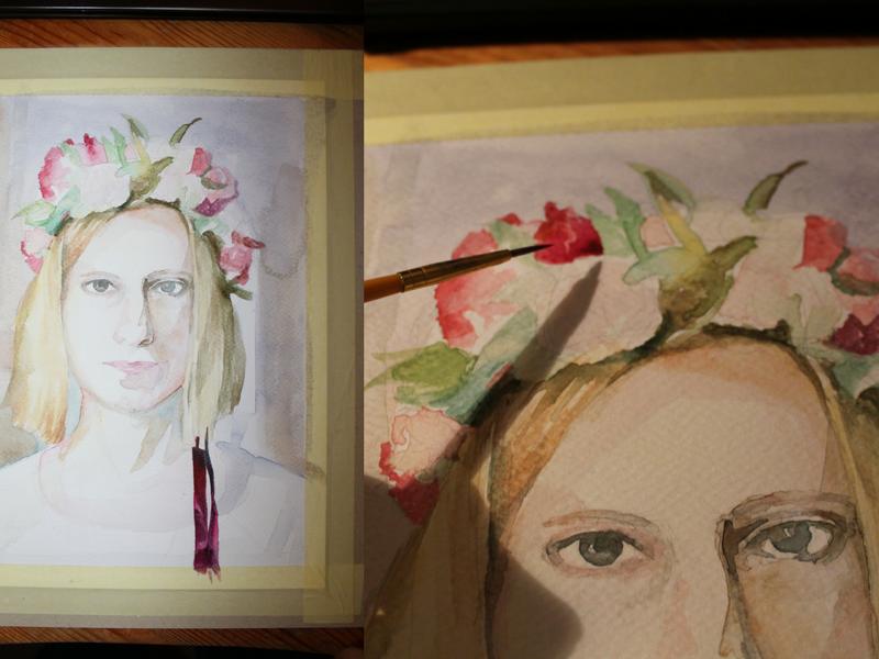 portret dziewczyny w wianku
