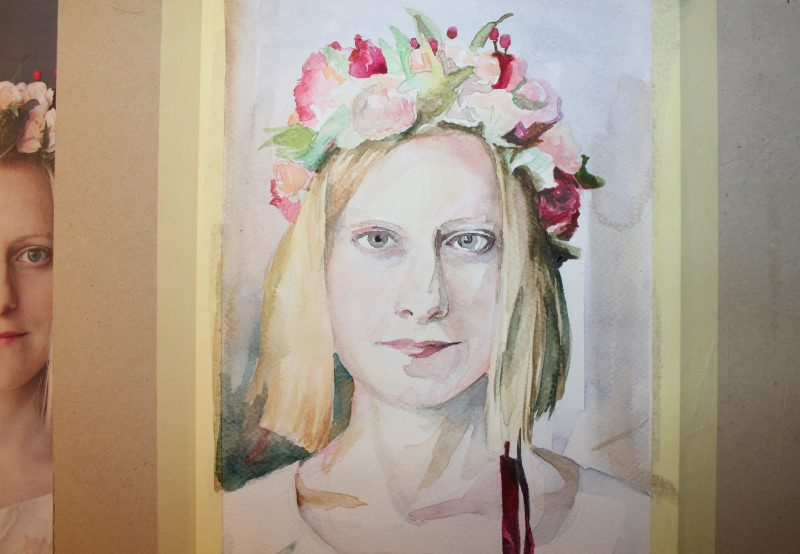 akwarelowy portret