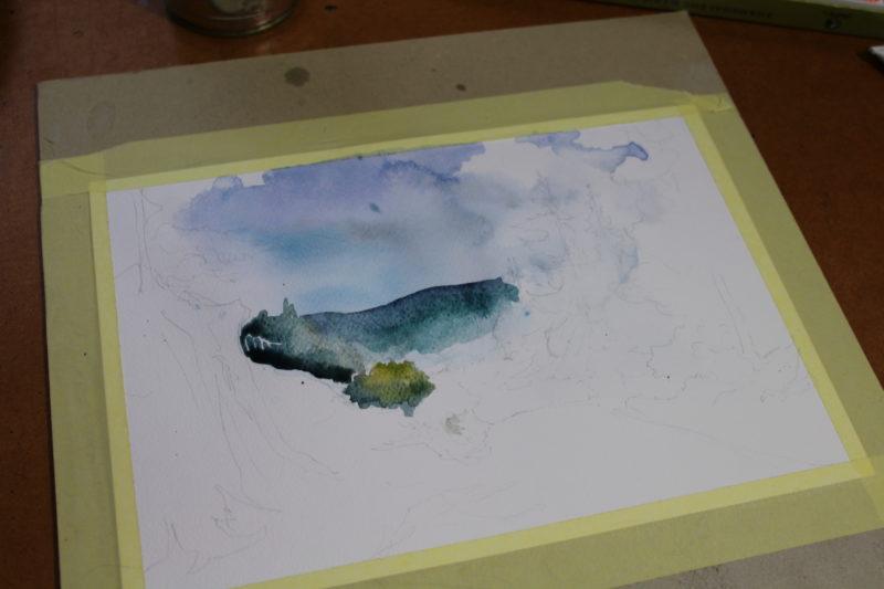 metody malowania akwarelą