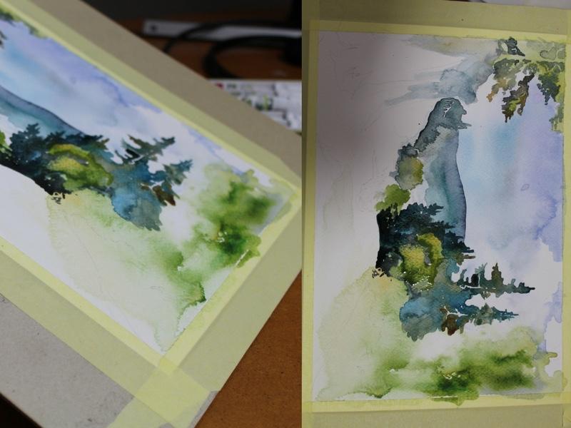 jak namalować obraz akwarelą