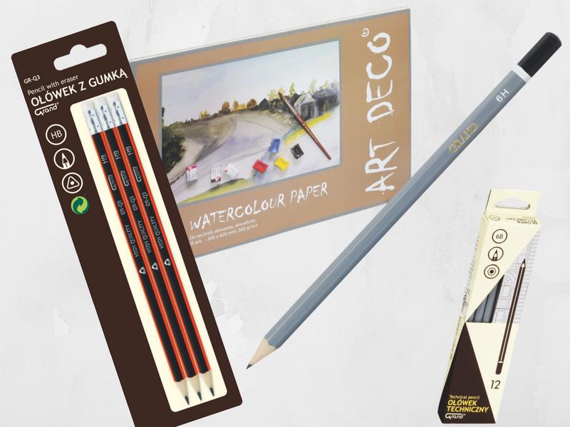 ołówki do szkicowania