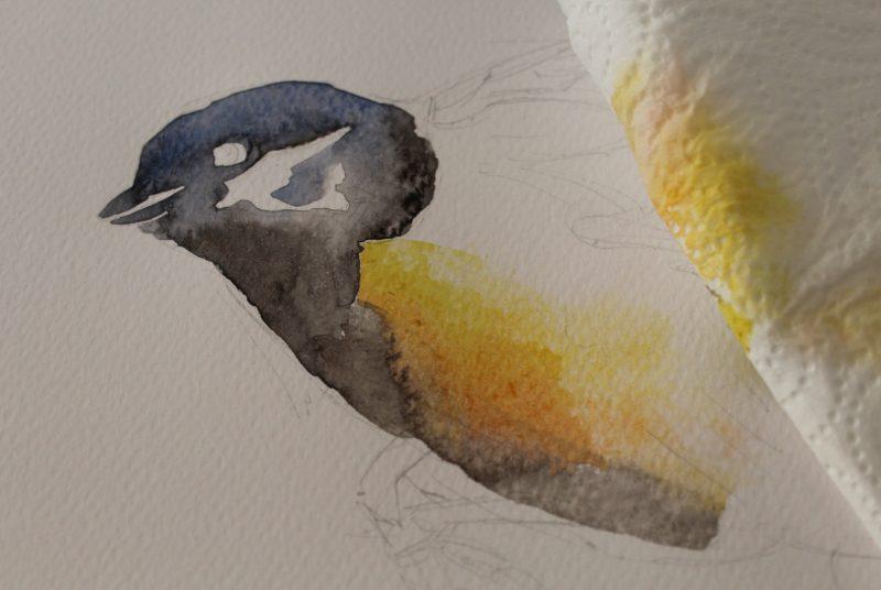 malowanie sikorki