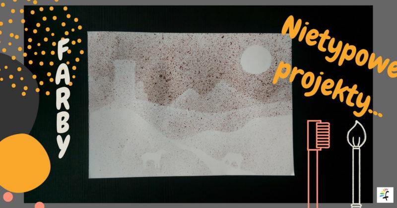 obraz malowany szczoteczką